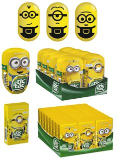 minion tic tacs, cute and yummy. Tic Tac Minions, Minion Toy, Toy Packaging, Packaging Design, Branding Design, 6th Birthday Parties, Diy Birthday, Girl Gift Baskets, Cocoa Puffs