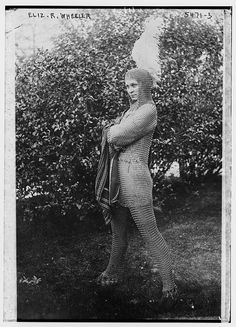 Eliz. R. Wheeler (wearing chain-mail costume). Negative, Bain News Service. Bain Collection, Library of Congress Prints and Photographs Division.