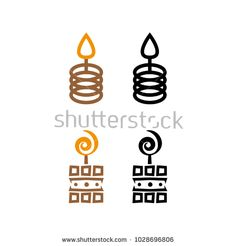 A set of candle icons