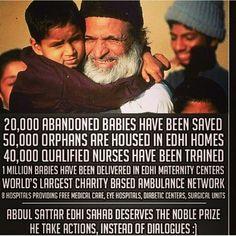 Mr Edhi, beloved philanthropist of Pakistan.