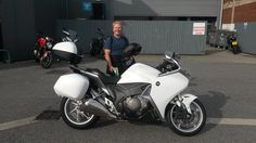 Craig collecting his superb Honda VFR1200 all the best mate and thanks again from all the team at SMC Bikes  #Honda #VFR