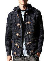 Orangetime Men Knitting Thick Cardigan Coat Hoodie