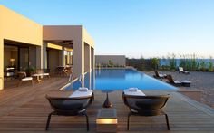 The Romanos, a Luxury Collection Resort, Villa Ithomi. Greece Resorts, Hotels And Resorts, Luxury Resorts, Design Hotel, Porches, Boutiques, My Pool, Luxury Accommodation, Romantic Getaways