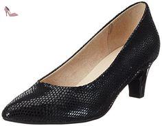 22403, Escarpins Femme, Noir (Black Reptile), 39 EUCaprice