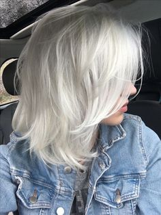 Platinum Blonde Grey Hair