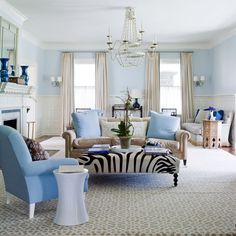 Blue and white in design is one of our favorite combinations, especially in a coastal home. Here's a round up of some beautiful blue and white inspiration!