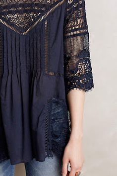 Kind of boho, kind of classic! I love these types of tops with jeans and sandles