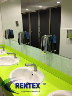 Foam soap dispensers for busy commercial washrooms are the perfect service item. These chrome dispensers are available to purchase or on a rental refill services. #soap #soapdispenser #washroom #soaprental #handsoap #dispensers