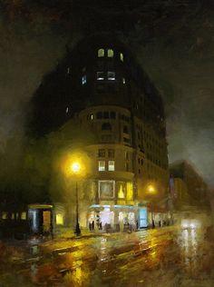 Market Temple by David Cheifetz Oil ~ 24 x 18