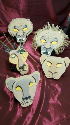 Scar, Mufasa, Simba, Nala and Serabi Headpieces for Lion King Jr.