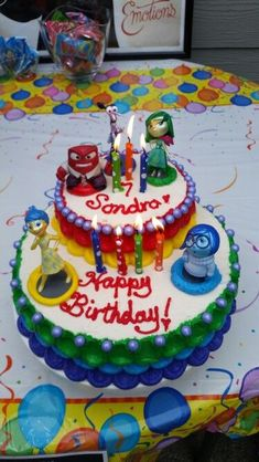 Inside Out Disney Cake