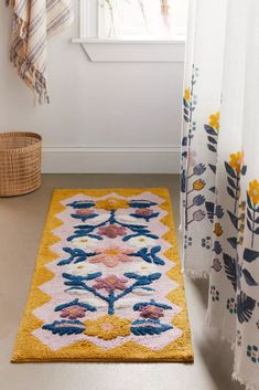 Shop Molly Folk Floral Runner Bath Mat at Urban Outfitters today. We carry all the latest styles, colors and brands for you to choose from right here. Diy Bathroom, Bathroom Rug Sets, Bathrooms, Zebra Bathroom, Bathroom Runner Rug, Bath Mat Runner, Bling Bathroom, Paris Bathroom, Bathroom Black
