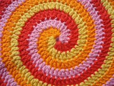 Spiral crochet - Free pattern available on Ravelry here: http://www.ravelry.com/patterns/library/stir-me-up-potholders