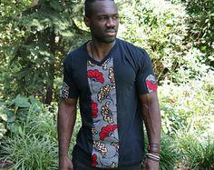 African Print Shirt, Wax Print Shirt, African Print, Tribal Print shirt, Men's T shirt African Print Shirt, African Shirts, African Print Dresses, Afro, African Print Fashion, Ankara Fashion, Fashion Dresses, Tribal Prints, Cool T Shirts
