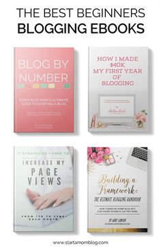 The best ebooks for beginning bloggers! They are all super affordable and filled with actionable advice. Check out these awesome ebooks just for beginning bloggers!