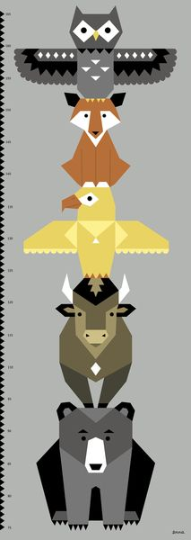 enna Totem Poster Messlatte von enna shop auf DaWanda.com