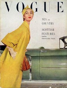British Vogue July 1950    Photography John Rawlings, hat by Lilly Dache
