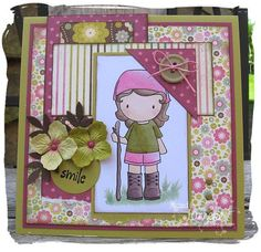 LOVE this layout! so cute and simple. would be really quick to put together once papers are selected!
