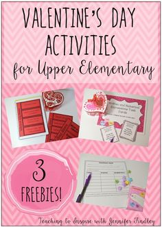 Big kids can have Valentine's Day fun, too! This post highlights a variety of engaging and rigorous activities for Valentine's Day with upper elementary students, including three free activities!