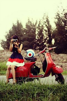 With my Vespa out for a country run.........