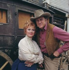 #Gunsmoke   1955-1975  Sheriff Matt Dillon and Miss Kitty | James Arness