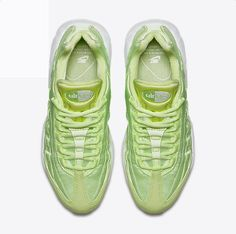 huge selection of f9897 97b39 Chaussure Nike Air Max 95 Pas Cher Femme Qs Vert Citron Liquide Clair Blanc  Jaune Gomme