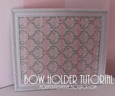 Bow holder tutorial