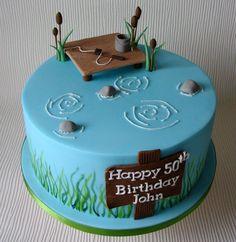 Brilliant Image of Fishing Birthday Cake Fishing Birthday Cake Johns Fishing Themed Birthday Cake Cupcakes Cake Fish Cake Cupcake Birthday Cake, Adult Birthday Cakes, Birthday Cakes For Women, Themed Birthday Cakes, Themed Cakes, Cupcake Cakes, Fishing Birthday Cakes, 50 Birthday, Cake Cookies