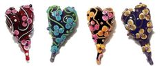 Amy Trescott - How to Make a Cased, Horizontal-Holed, Surface-Decorated Floral Heart