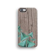 Geometric mint wood iPhone 6 case, iPhone 6 plus case S649 – Decouart