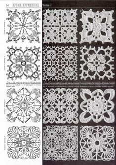 image detail for artes da crochet motifs by sonagrig This Santa Pants Crochet Cutlery Holder is an easy FREE Pattern that will look cute on your table. Check out the Coasters, Pot Holder and… Crochet assorted patterns - pinned from Photobucket Album -Cr Crochet Motif Patterns, Granny Square Crochet Pattern, Crochet Blocks, Crochet Chart, Crochet Squares, Thread Crochet, Filet Crochet, Granny Squares, Crochet Table Runner