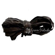 Cinta de rafia para packaging rústico. Negra. Perfecta, sin duda una manera muy elegante de terminar de preparar tus #detalles y regalos. Disponible en Gran Velada. #DIY