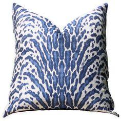 blue animal print pillow blue pillow cover modern blue throw blue and