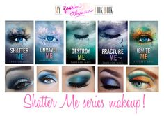 Shatter me series by Tahereh Mafi makeup Shatter Me Quotes, Shatter Me Series, Shatter Me Warner, I Love Books, Books To Read, Young Adult Fiction, Books For Teens, Fanart, Book Fandoms