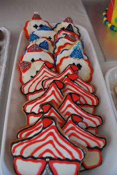 "Clown and circus tent cookies  - Photo 4 of 55: Carnival/Circus / Birthday ""Annabelle's Circus Party"" 
