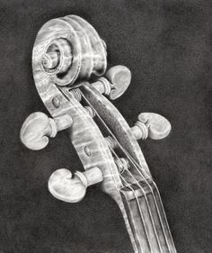 My most recent pencil drawing 'Violin Scroll'