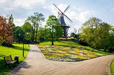 Bremer Windmühle - Leinwand von Deutschland abgelichtet auf DaWanda.com
