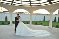 """If you are into classic wedding dress with long train I would say """" go for it"""""""