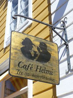 Café Helmi, tea and coffee in Old Porvoo Baltic Sea, Helsinki, Bauhaus, Old Town, Silhouettes, Contemporary Design, Countries, Places To Go, Helmet