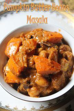 : Pumpkin and Butter Beans Masala / Pumpkin Masala Recipe