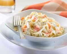 Ed Baines teams tagliatelle with firm favourites smoked salmon and Philadelphia cream cheese Salmon Recipes, Fish Recipes, Seafood Recipes, Vegetarian Recipes, Cooking Recipes, Smoked Salmon Pasta Recipes, Salmon Dishes, Seafood Dishes, Salmon Tagliatelle