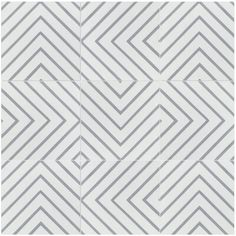 Villa Lagoon Tile Labyrinth Misty x Cement Field Tile in Gray/White