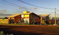 Casa Girassol #arquitetura #architecture #casaterrea #tijoloaparente  #amarelo #pordosol #aconchego #tijololecologico #revistaaec #p23arq