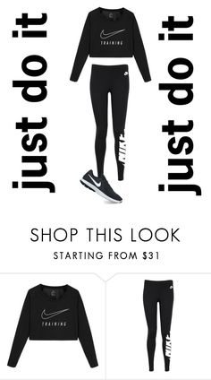 """just do it"" by nemoibrahim ❤ liked on Polyvore featuring NIKE"