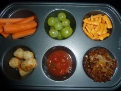 Muffin Tin Meals for a young kid - clever