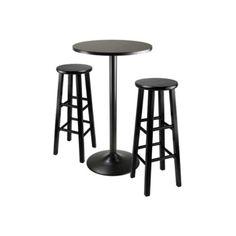 Bar-Table-Set-Round-Pub-Height-2-Stools-3pc-Kitchen-Breakfast-Bistro-Furniture