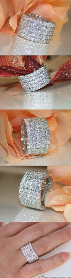 High-end: Glamorous Diamond Eternity Ring, 6,11 cts. H-SI1 WG-18K - Visit: schmucktraeume.com Like: https://www.facebook.com/pages/Noble-Juwelen/150871984924926