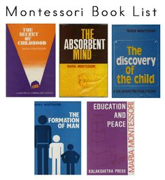A comprehensive Montessori book list that will guide you through the primary Montessori philosophy and theory. Montessori Theory, Montessori Books, Montessori Education, Maria Montessori, Montessori Activities, Kids Education, Local Library, Human Development, Training Center
