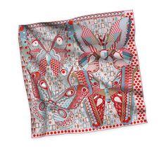 2014 F/W | Les Ailes de la Soie | Silk twill scarf, hand-rolled (90 cm x 90 cm) | Ref. H002845S 11 | CA$420.00
