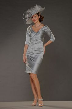 Silver Mother Of The Bride Dresses - The Wedding Specialists Fabulous Dresses, Beautiful Dresses, Dresses For Work, Wedding Hats, Wedding Bells, Wedding Flowers, Mother Of The Bride Suits, Silver Dress, Groom Dress